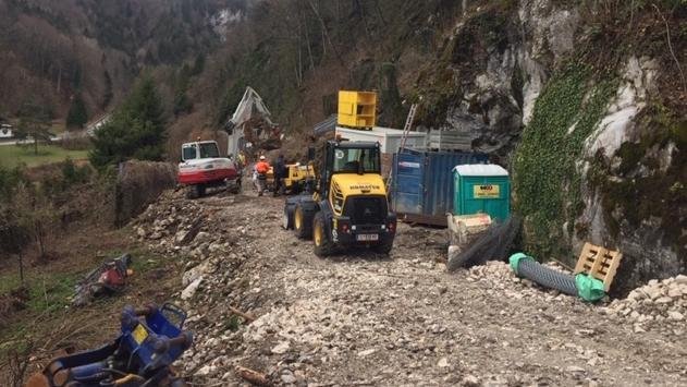 Sicherungsarbeiten nach Felssturz in Bad Reichenhall