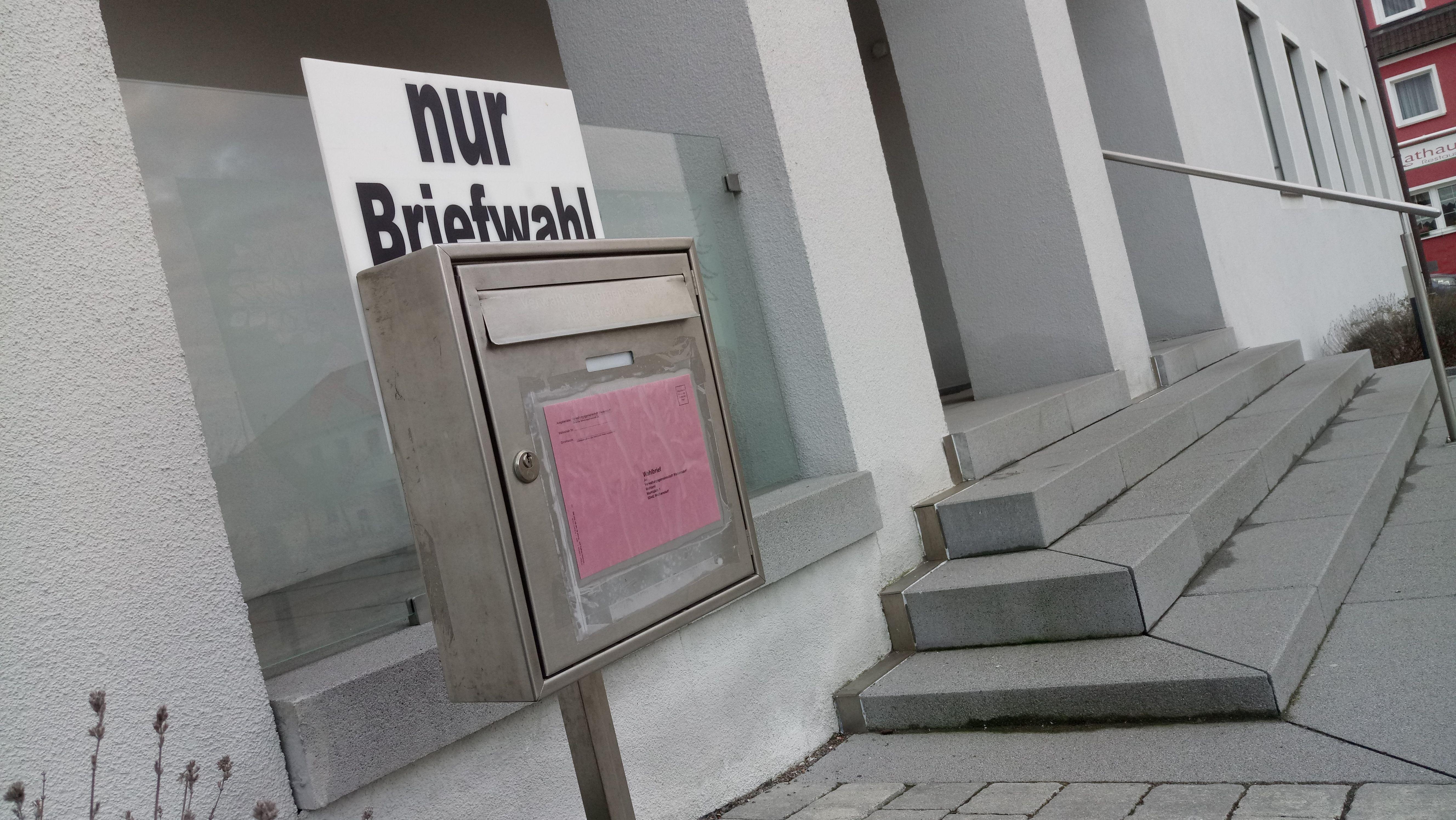 Ein eigener Briefkasten für Briefwahl.