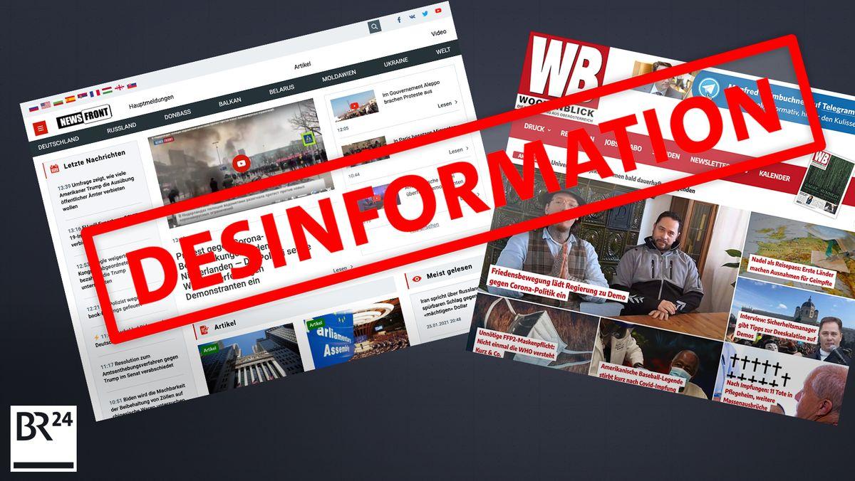 """Im Ranking von """"NewsGuard"""" sind vor allem Desinformations-Webseiten mit rechter Ideologie und Russland-Bezug auffällig."""