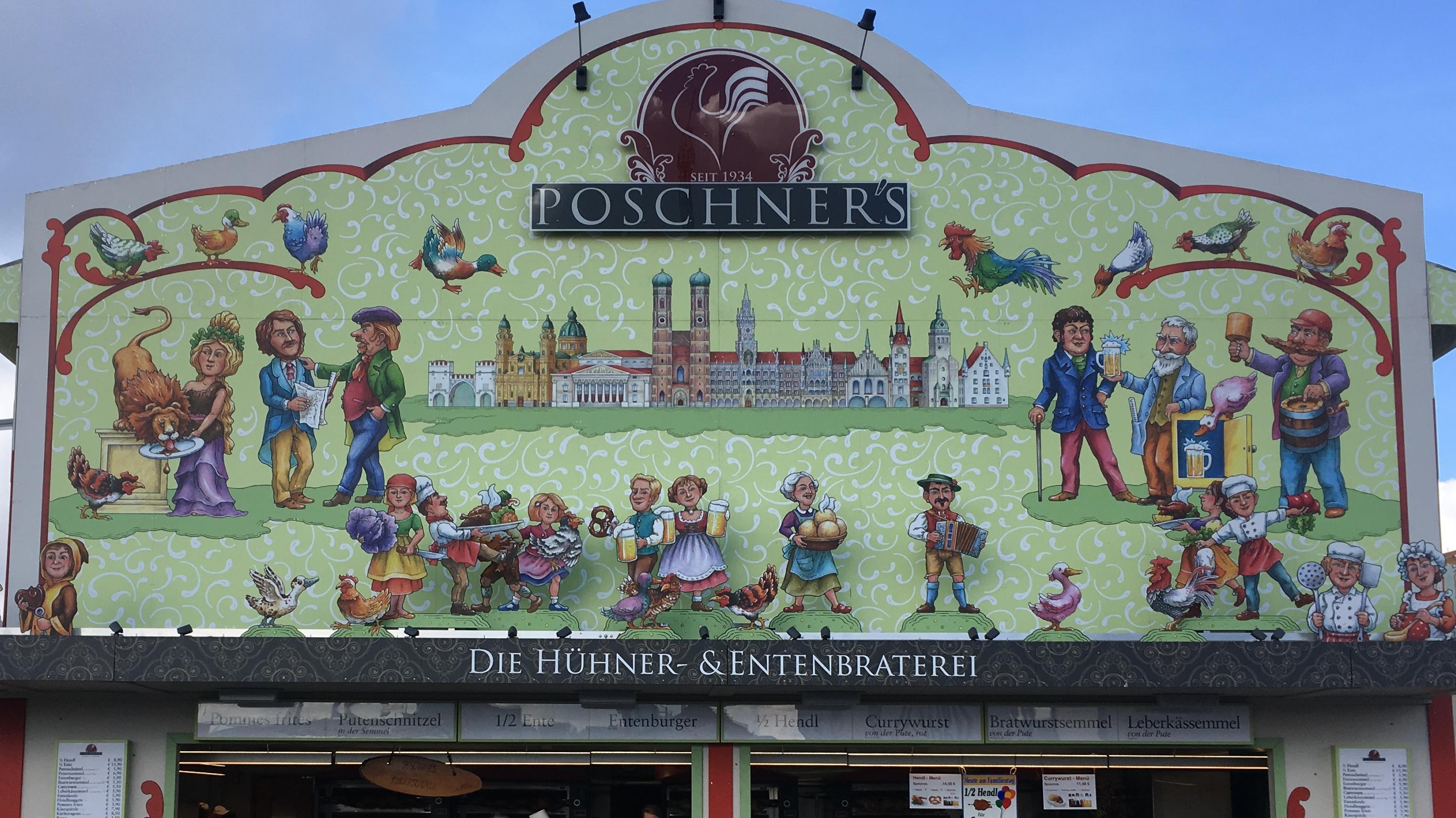 Die Hühner- und Entenbraterei Poschner auf dem Oktoberfest