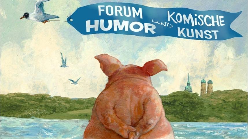 """Der Cartoonist Rudi Hurzlmeier unterstützt den Verein """"Forum Humor und Komische Kunst"""" nicht nur mit seiner Malerei, sondern auch als Berater."""