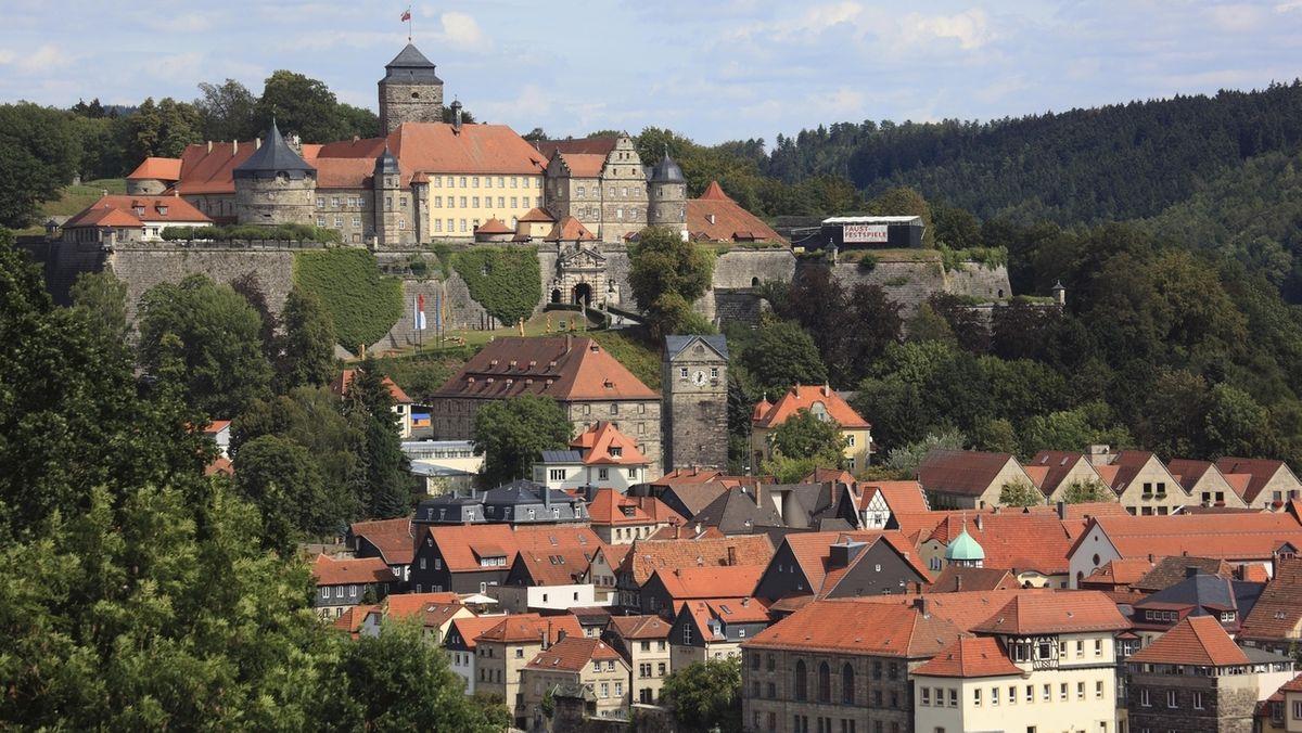 Festung Rosenberg und die Stadt Kronach.