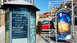 Plakataktion der Feuchtwanger Kreuzgangspiele  | Bild:Kreuzgangspiele Feuchtwangen