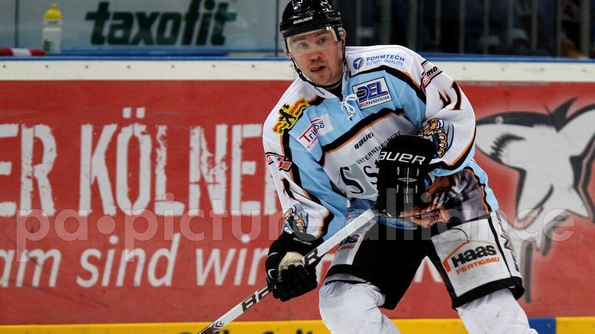Billy Trew als aktiver Spieler bei den Straubing Tigers 2010 (Archivbild)