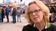 Fand deutliche Worte zur Causa Maaßen: Natascha Kohnen, Landeschefin der Bayern-SPD, auf dem Oktoberfest. | Bild:BR Rundschau
