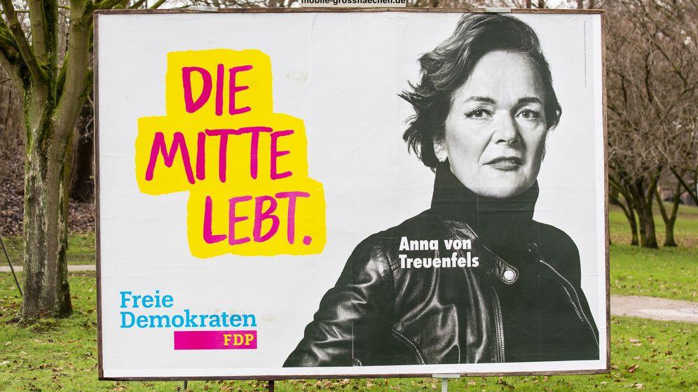 Wahlwerbung von Anne von Treuenfels ( FDP ) | Bild:pa/dpa/Patrick Franck