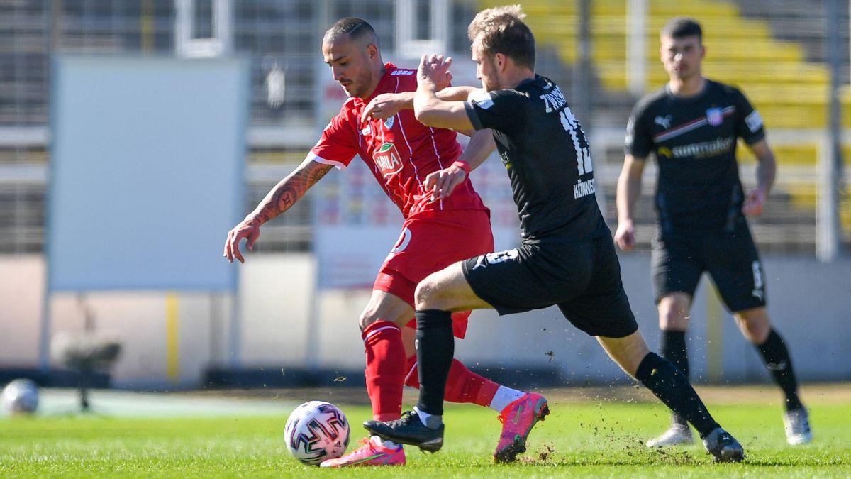 Spielszene Türkgücü München - FSV Zwickau