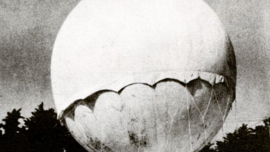 Japanische Ballonbombe aus dem Zweiten Weltkrieg