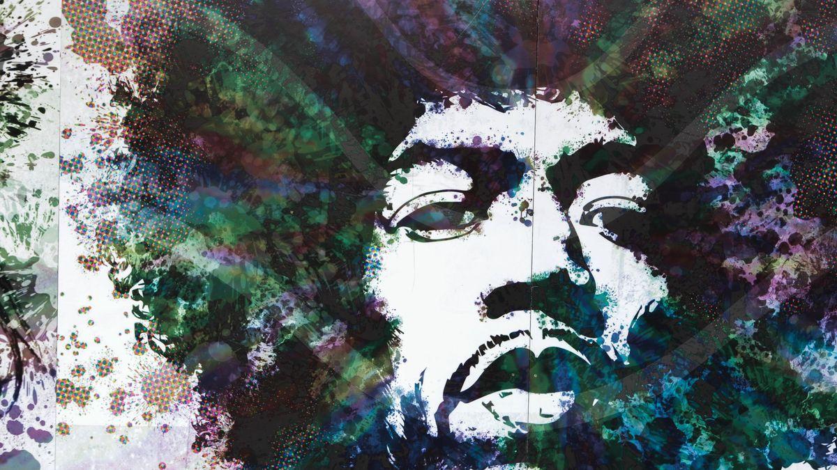 Das Antlitz des Musikers als Wandmalerei – Jimi Hendrix gilt als Ikone der Gegenkultur der 60er Jahre.