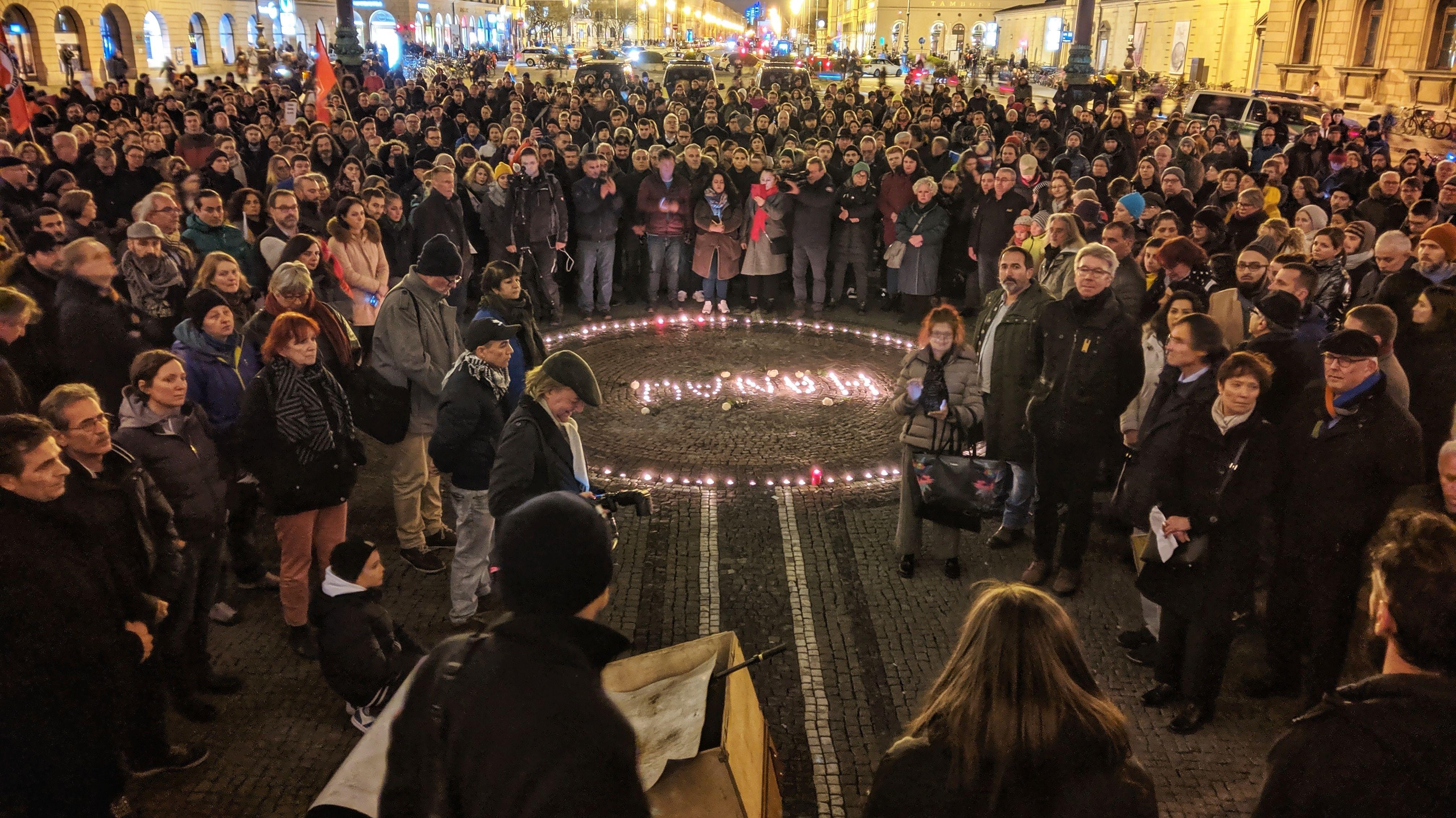 Kundgebung am Odeonsplatz in München