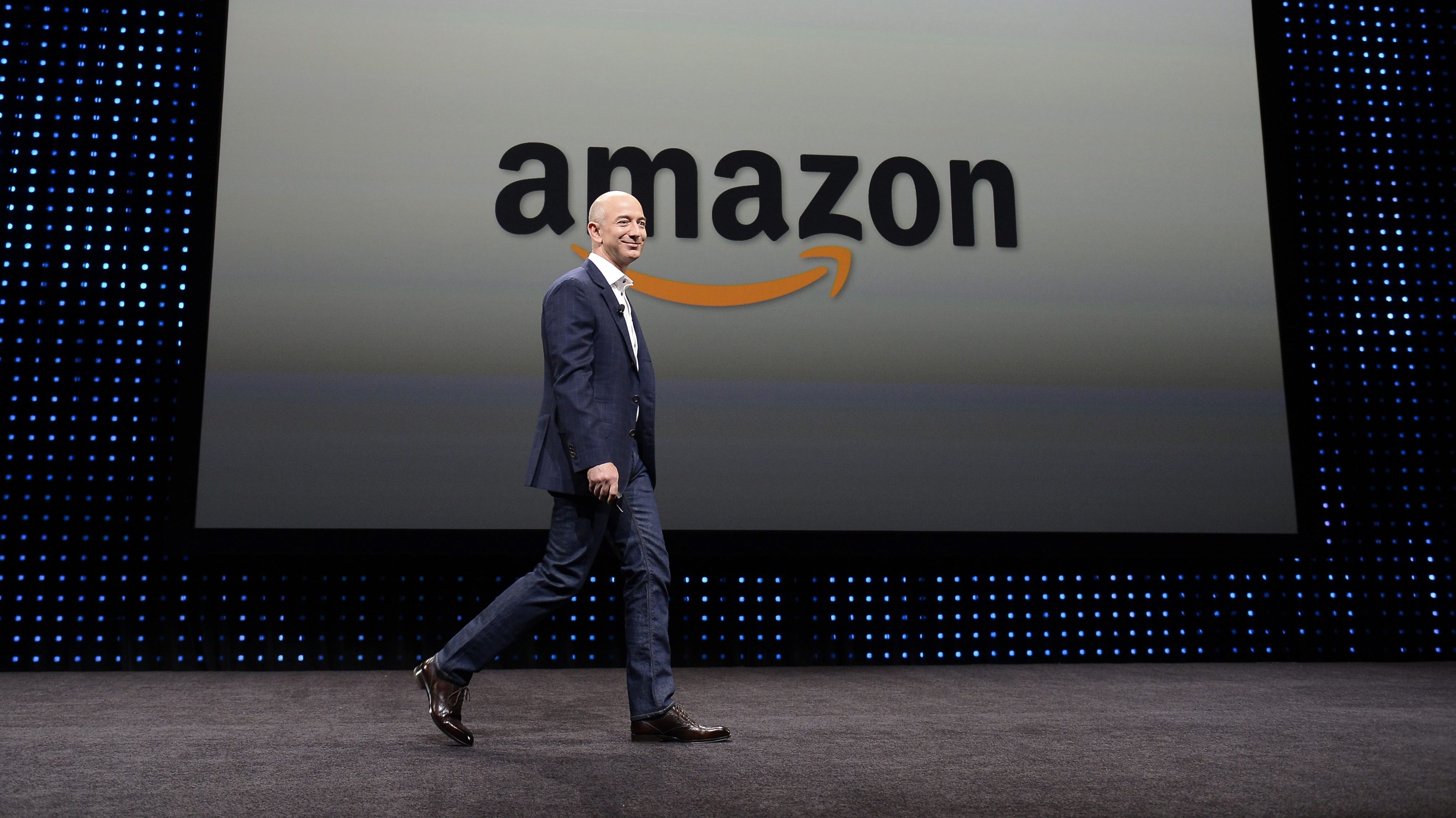 Der Gründer von Amazon: Jeff Bezos auf einer Pressekonferenz