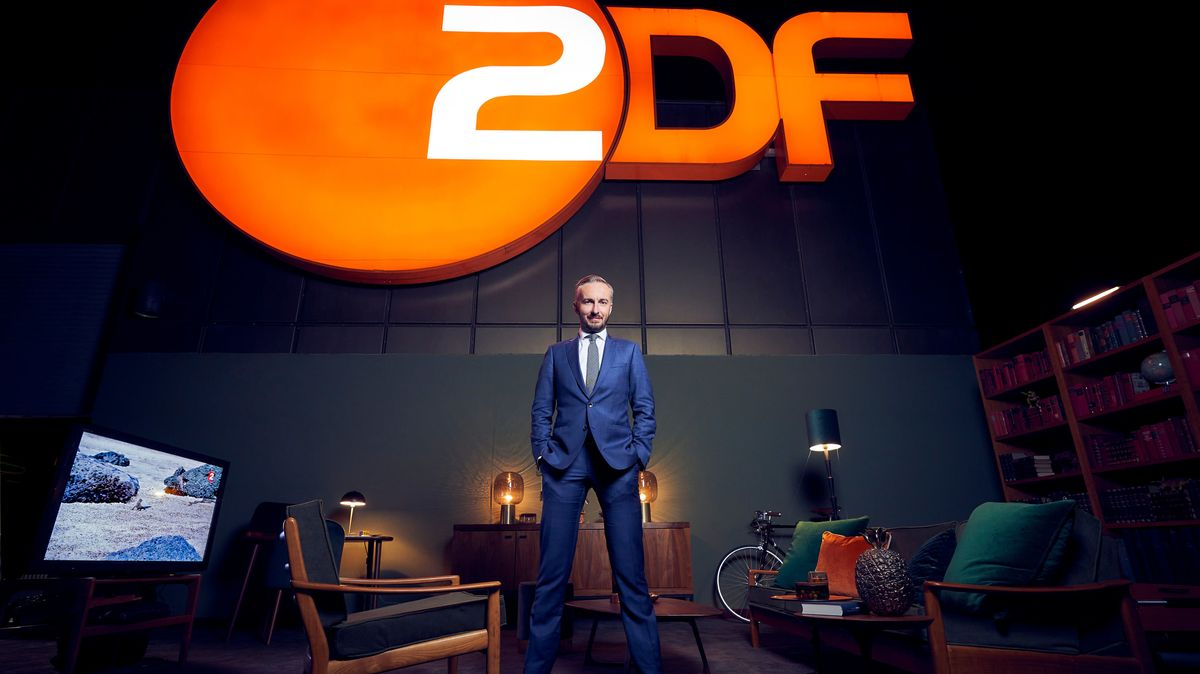 Der Satiriker in der ZDF-Kulisse