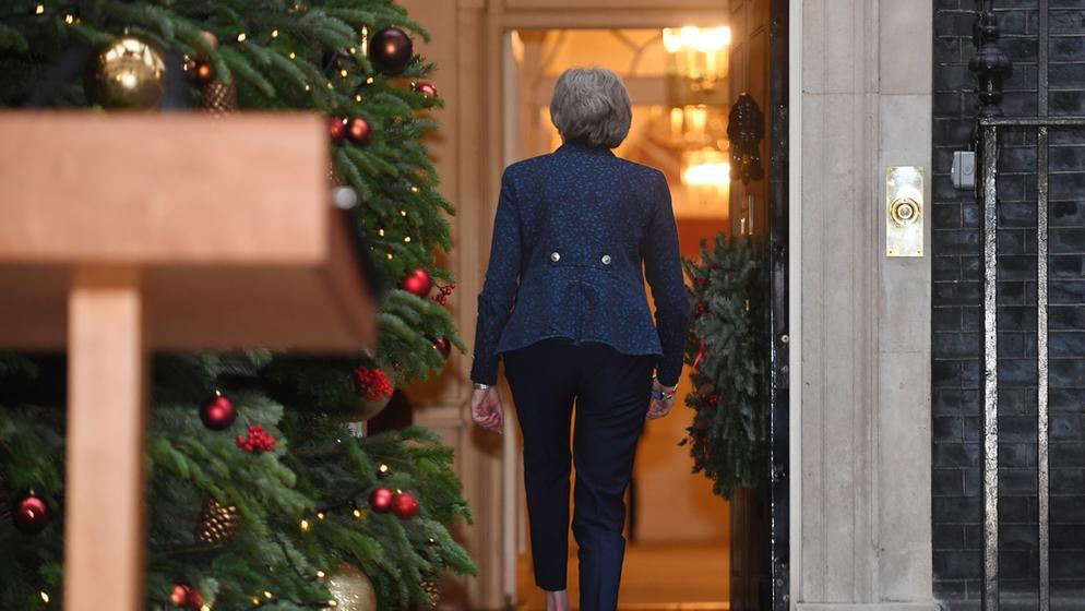 Die britische Premierministerin Theresa May | Bild:dpa-Bildfunk/ Stefan Rousseau