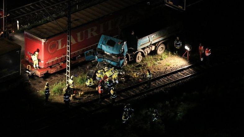 Unfall am Rangierbahnhof Nord in München am 24.05.2020.