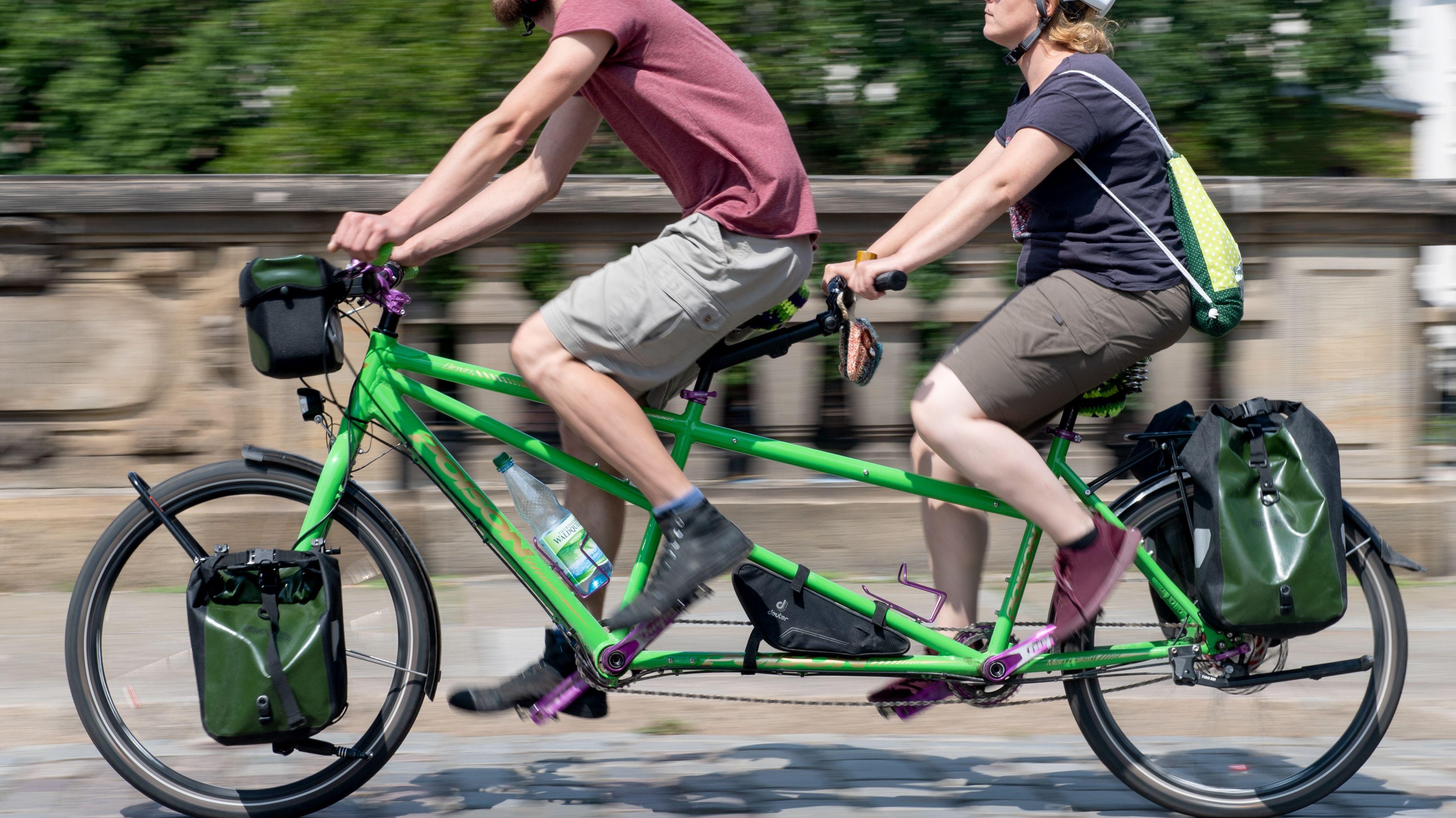 Tandem-Fahrrad-Fahrer