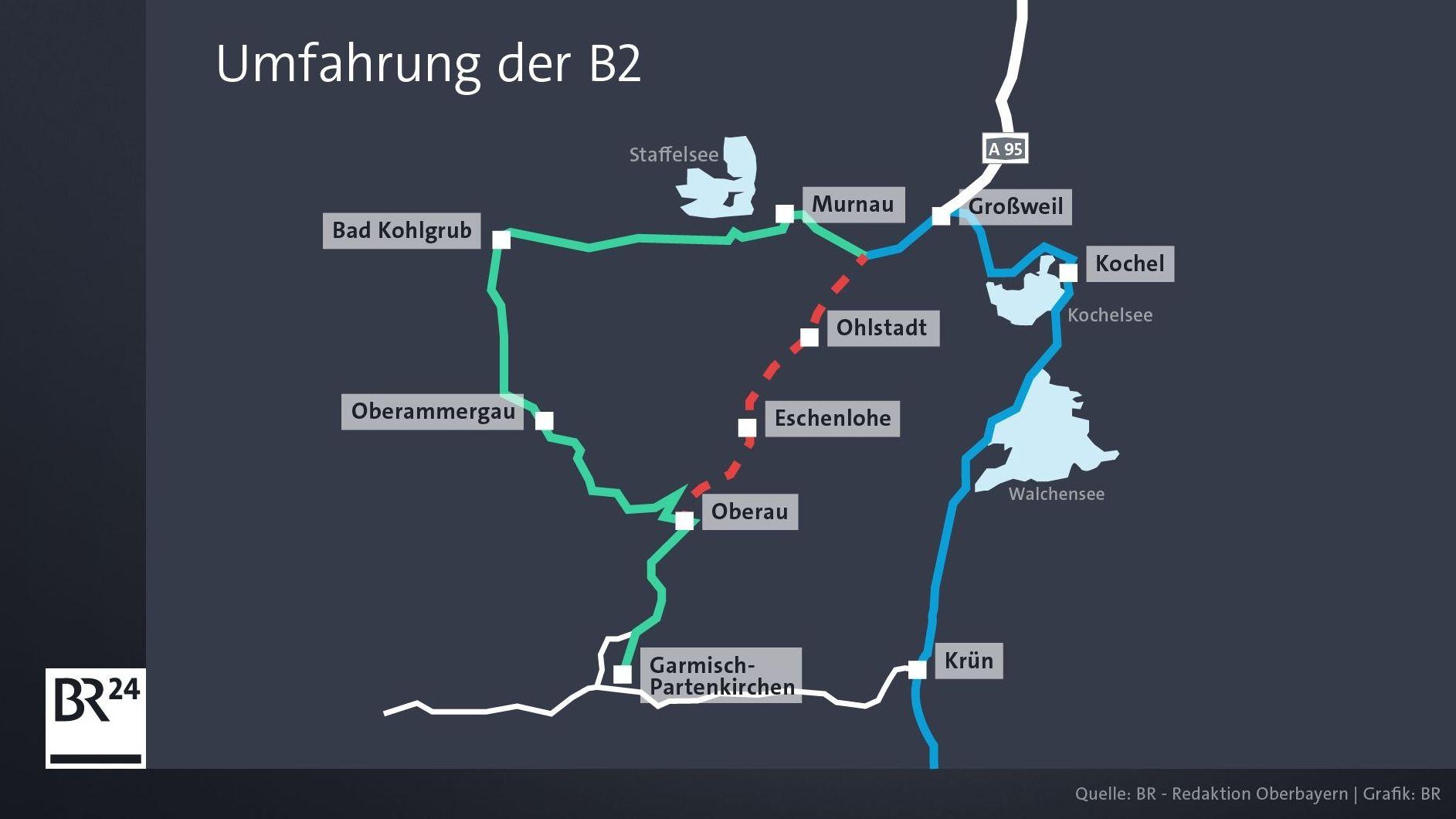 Umfahrung der Bundesstraße 2.