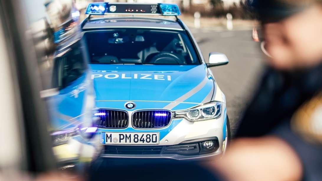 Verkehrskontrolle der Polizei.