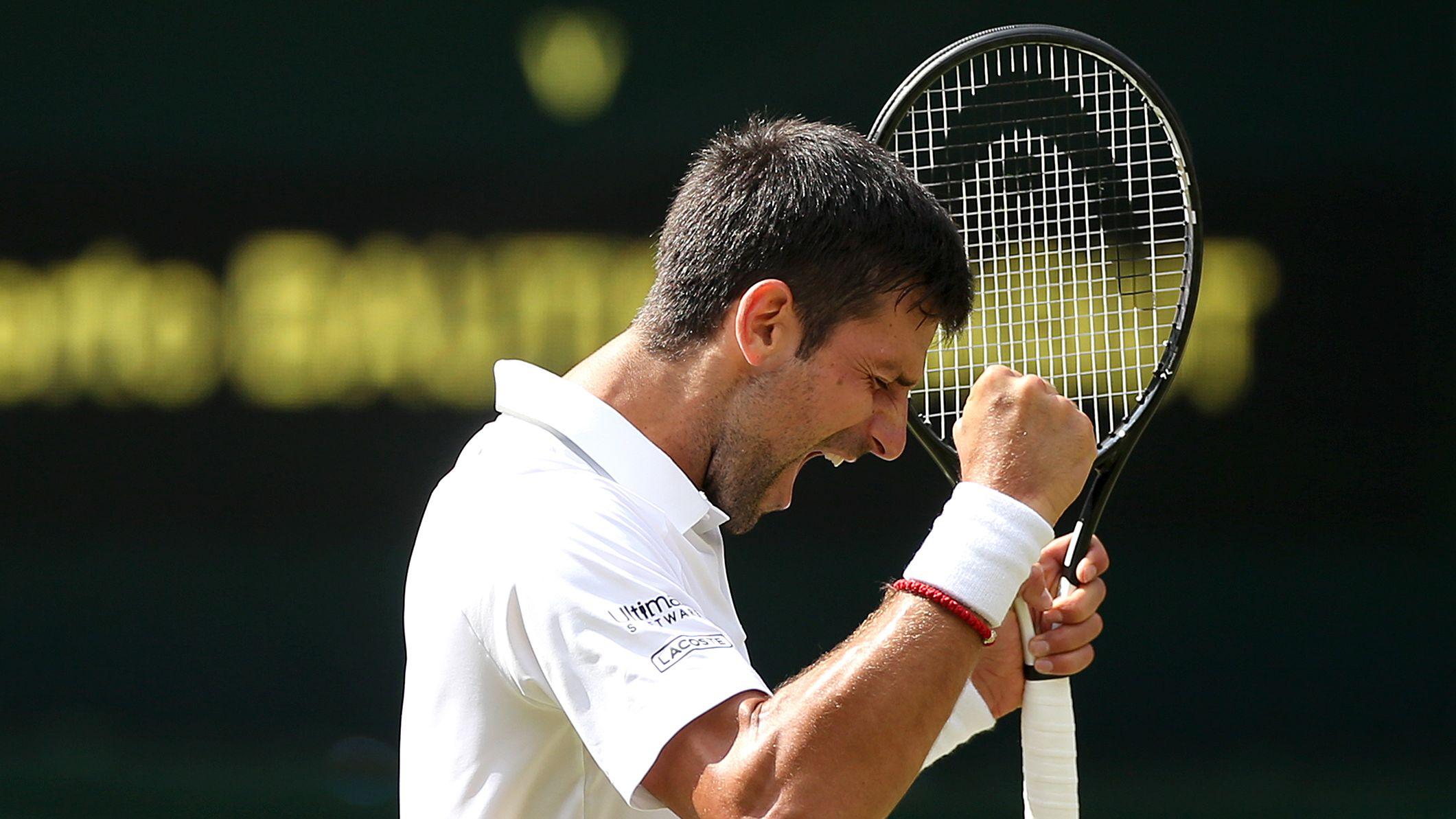 Novak Djokovic nach dem Matchball