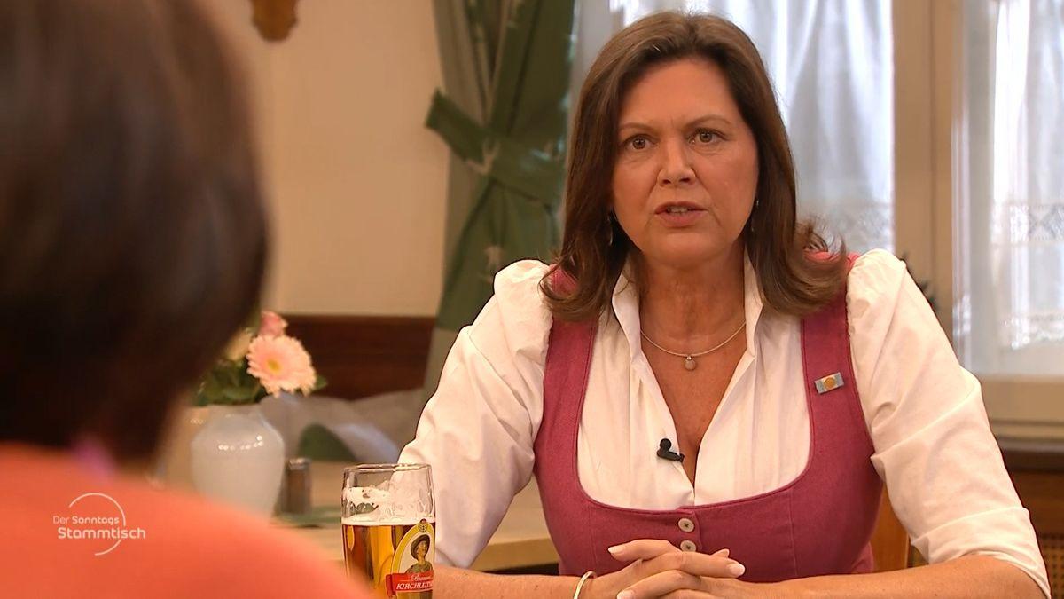 Ilse Aigner beim Sonntags-Stammtisch im BR-Fernsehen