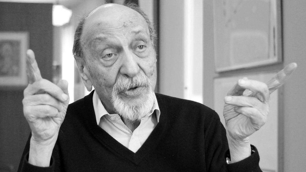 Milton Glaser,Designer aus den USA, spricht bei einem Interview in seinem Büro. (Archivbild, 2014)
