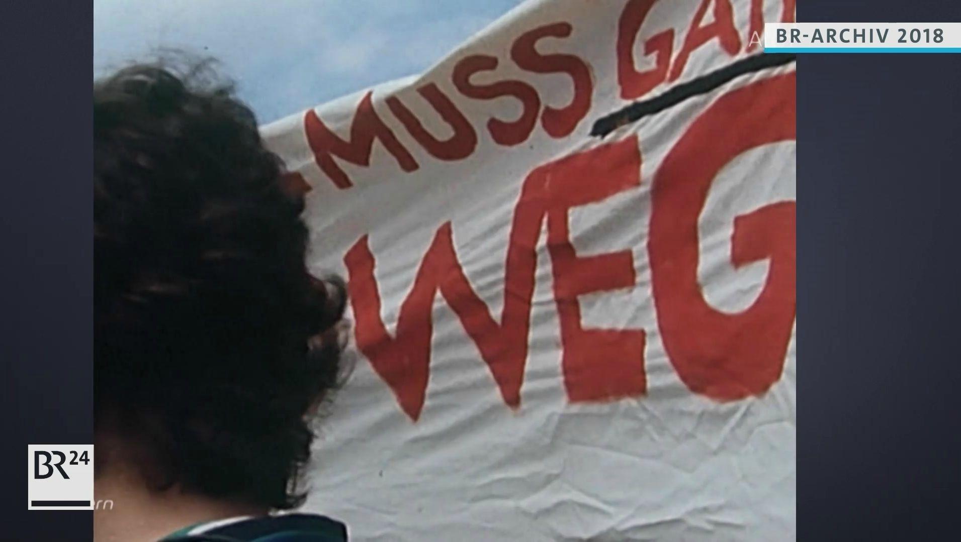Transparent auf Demonstration gegen den Paragrafen 175