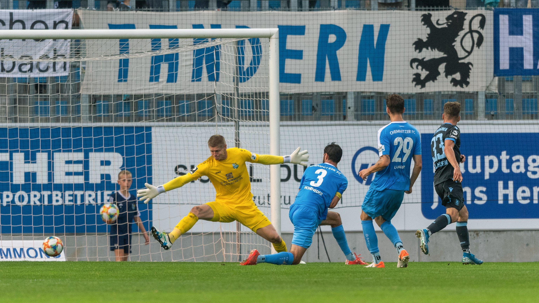 Das 1:0 für den TSV 1860 München gegen Chemnitz