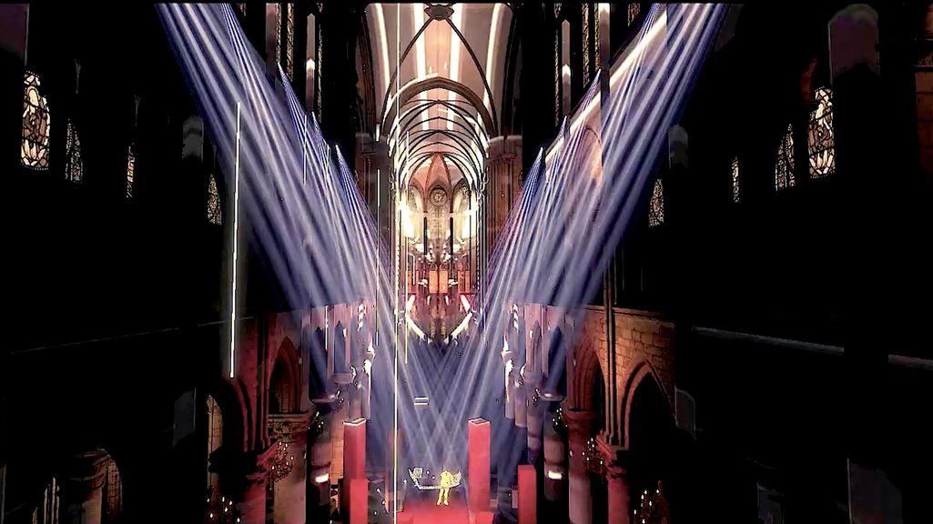 Virtuelles Modell der Kathedrale Notre Dame.