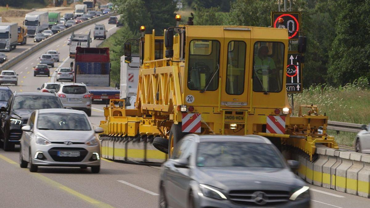 Vier große Autobahnbaustellen könnten in diesen Sommerferien für Staus sorgen.