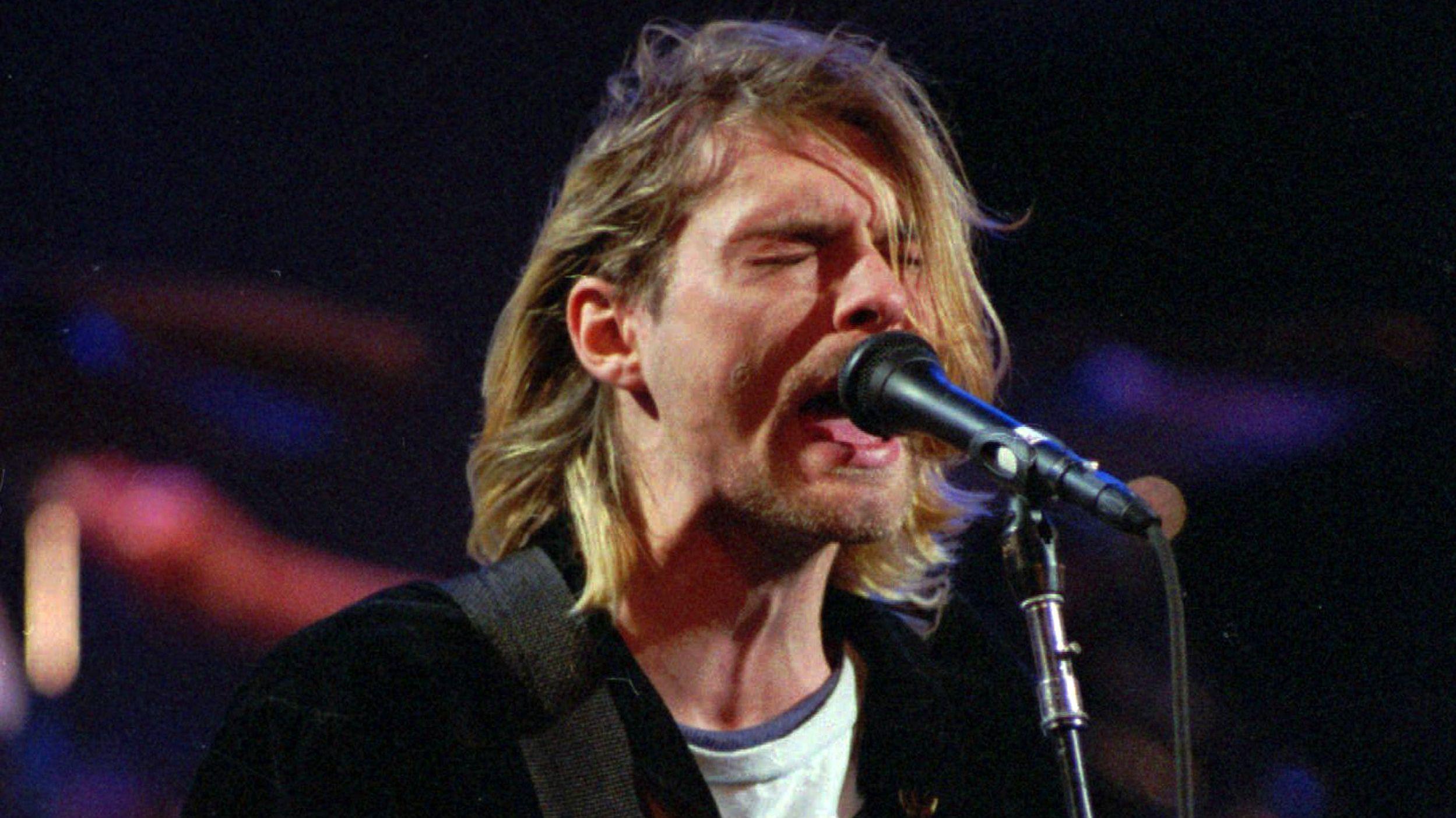 Sänger der Band Nirvana, Kurt Cobain.