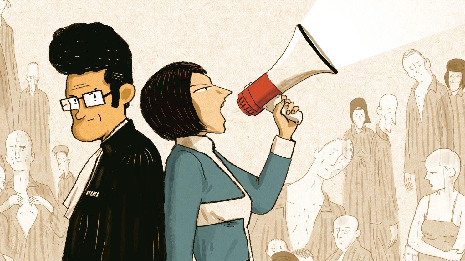 Lautstarker Kampf gegen das Vergessen: Beate und Serge Klarsfeld im Comic