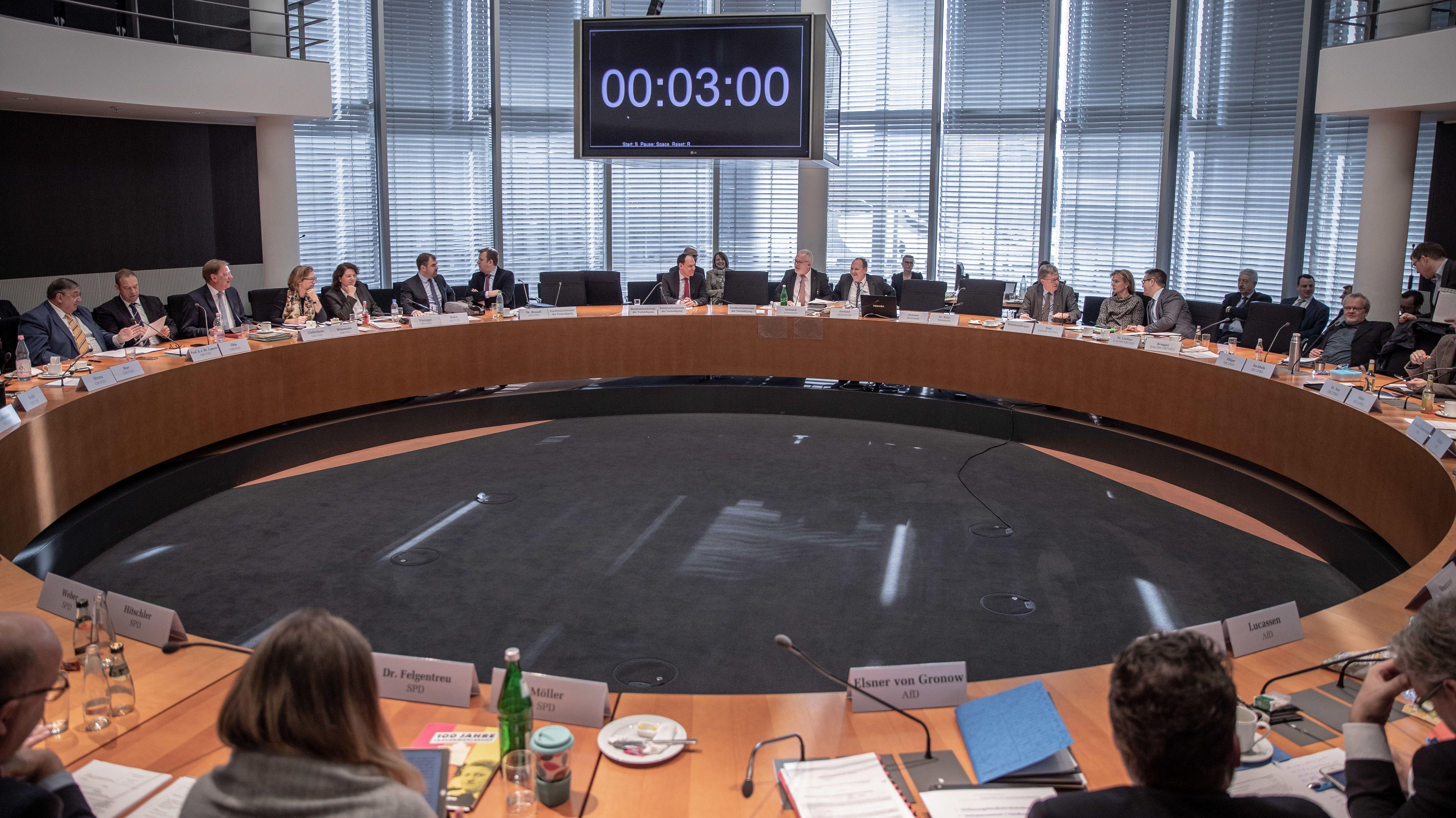 Sitzung des Verteidigungsausschusses