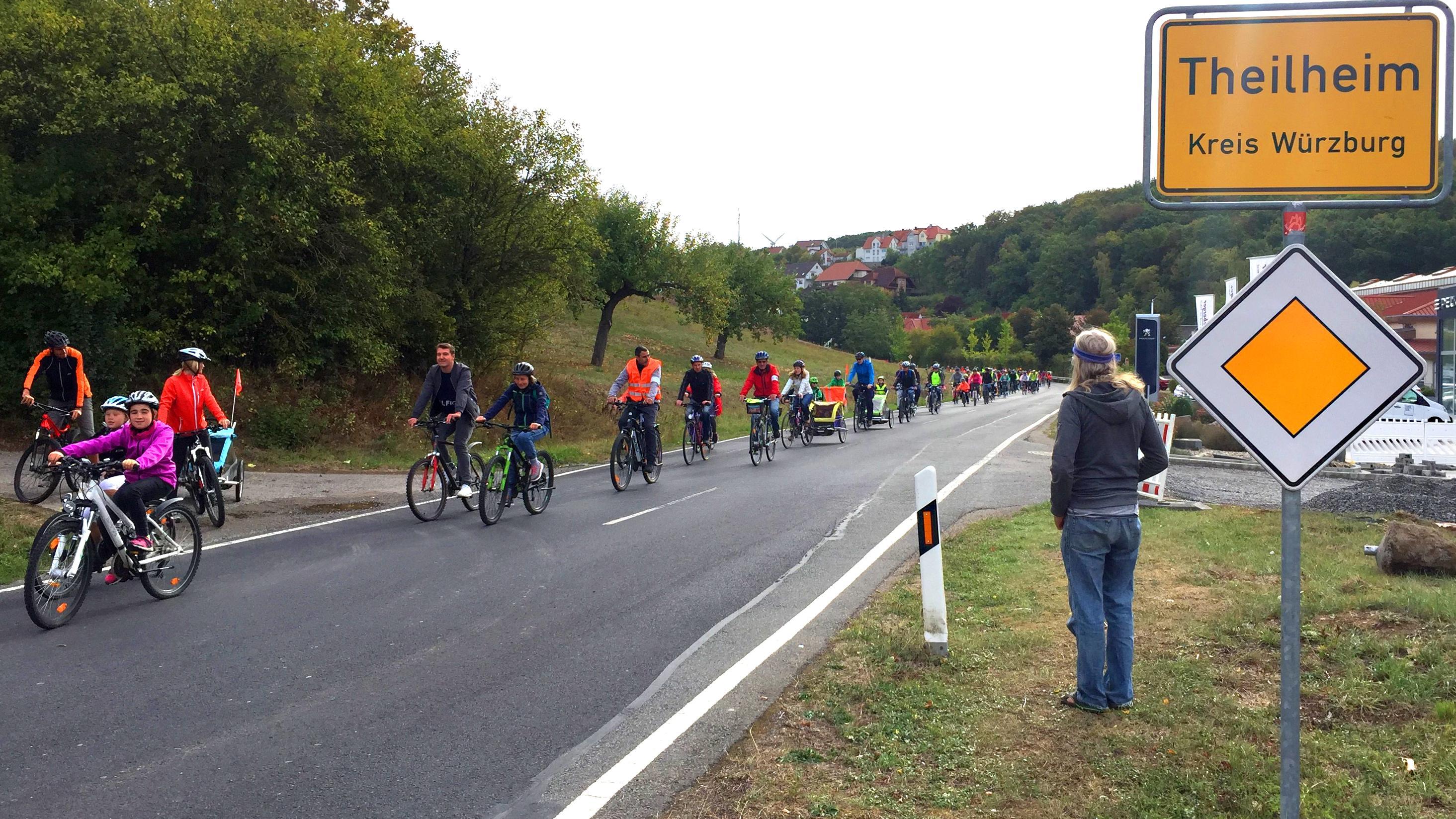 Fahrrad-Demo in Theilheim