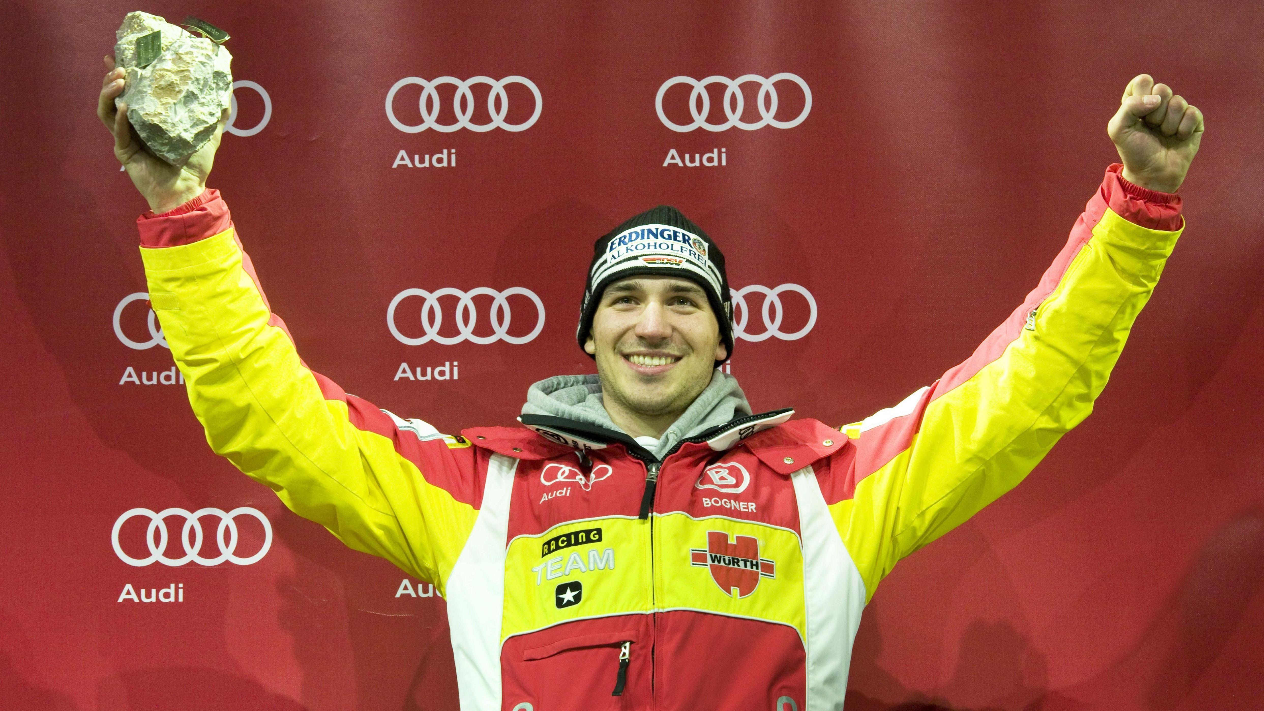 Felix Neureuther bei seinem Sieg 2010 in Kitzbühel
