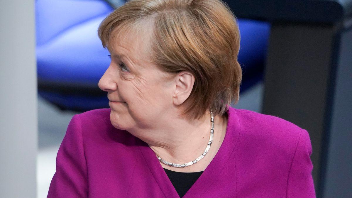 Angela Merkel die Bundeskanzlerin der Bundesrepublik Deutschland im Portrait