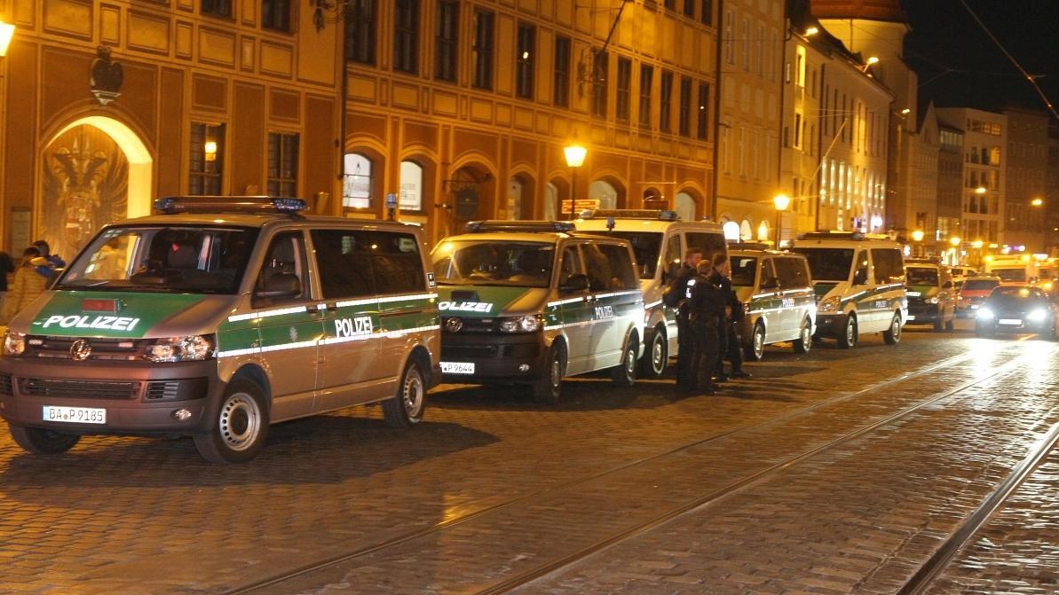 Polizeieinsatz in der Innenstadt von Augsburg