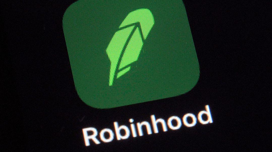 Das Logo für die Robinhood-App
