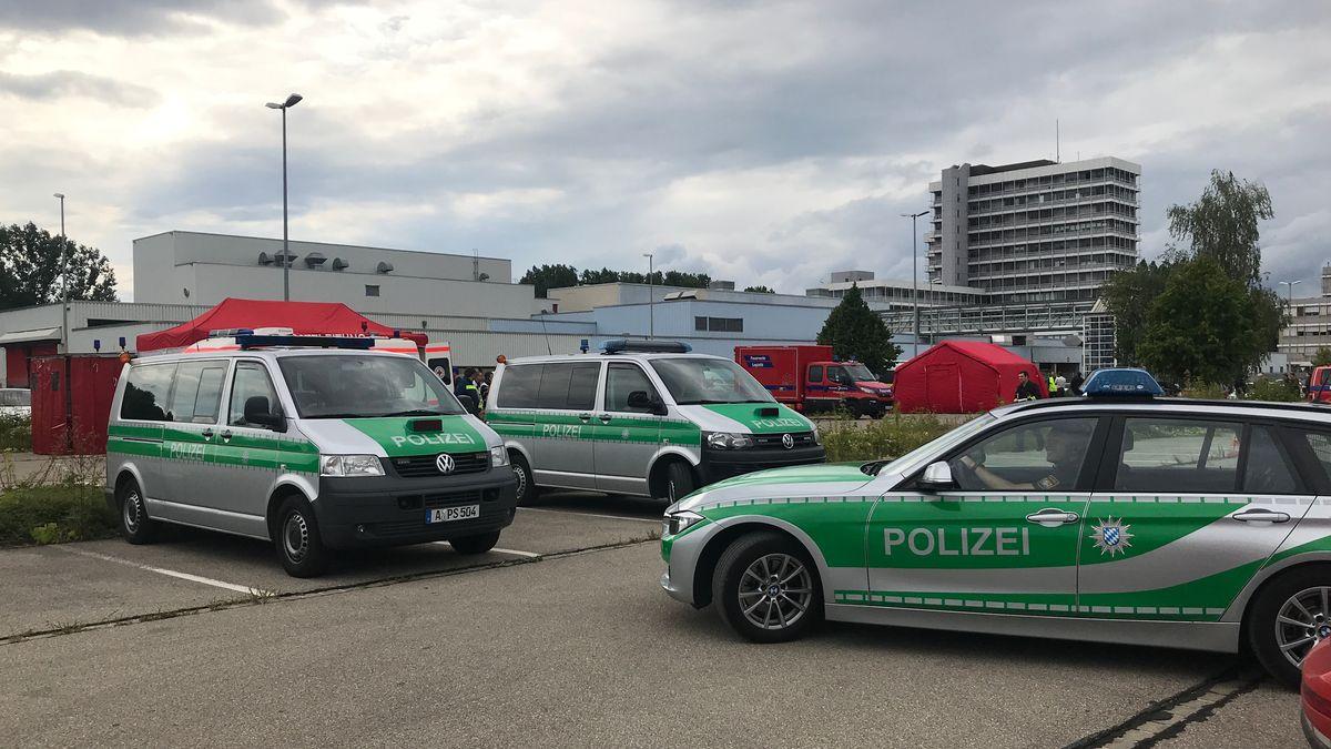 Polizeiwagen in Augsburg