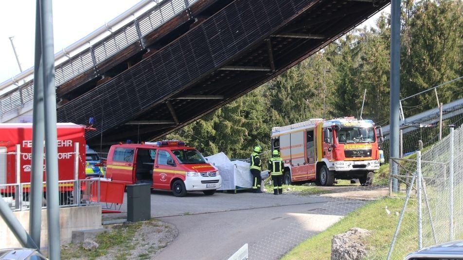Hubschrauberabsturz in Oberstdorf