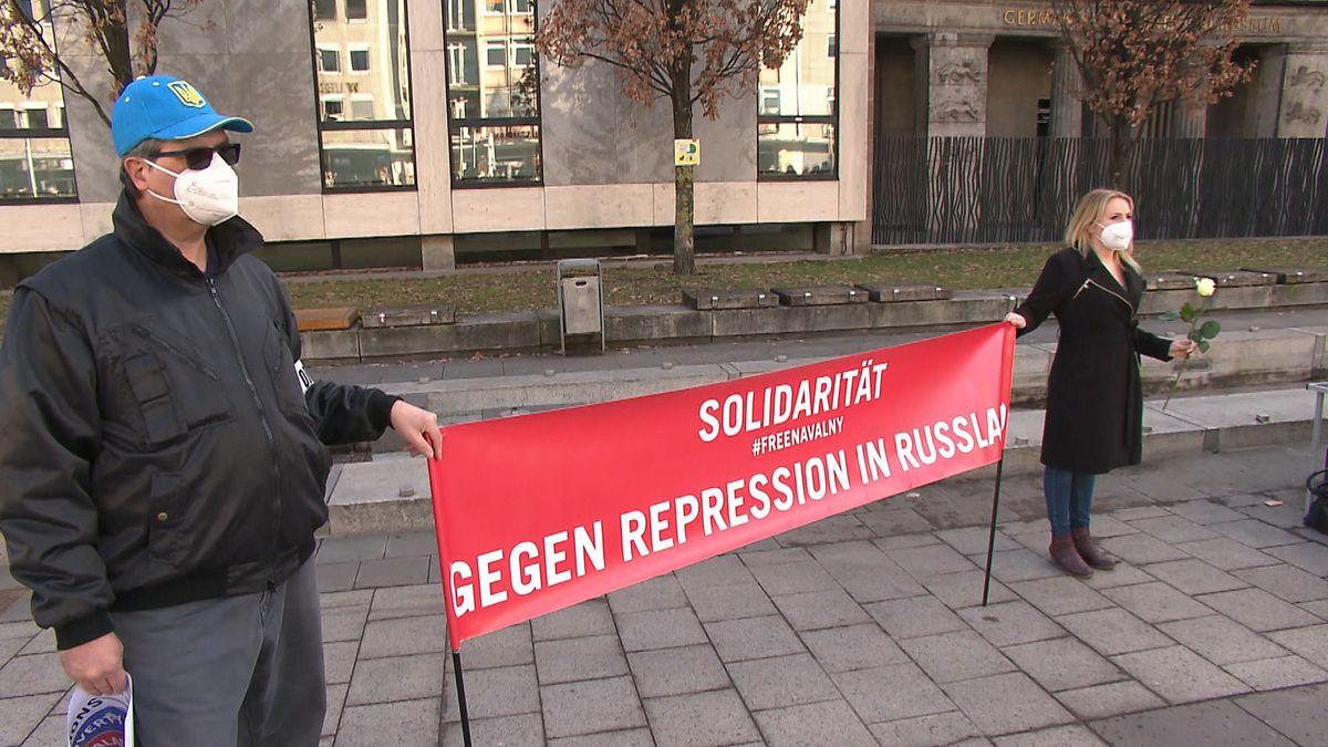 Demo für die Freilassung des Kreml-Kritikers Alexej Nawalny in Nürnberg