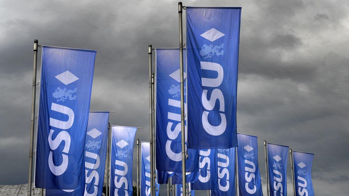 CSU-Fahnen in München (Archivbild)