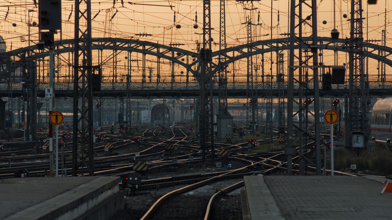 Gleise am Münchener Hauptbahnhof