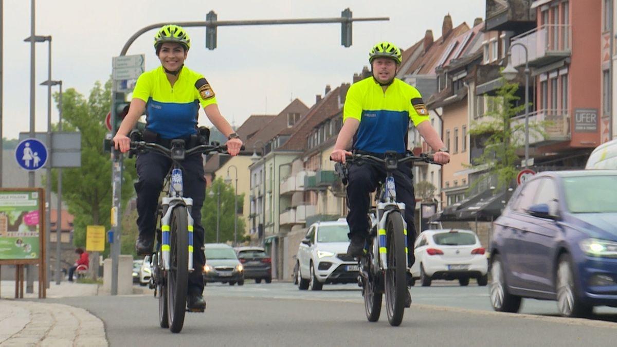 Unterfrankens Polizei auf Fahrradstreife