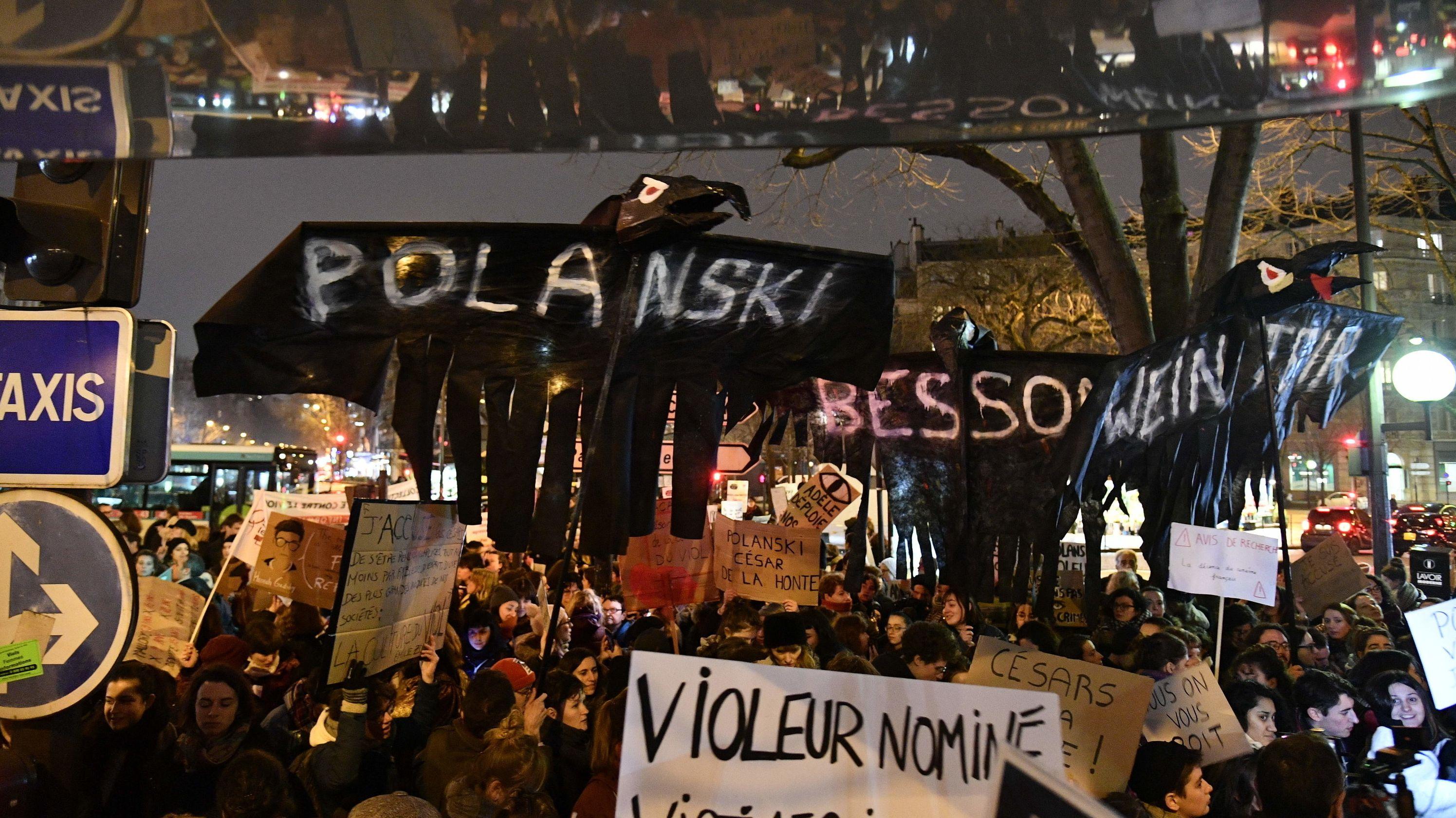 Proteste am Rande der César-Verleihung