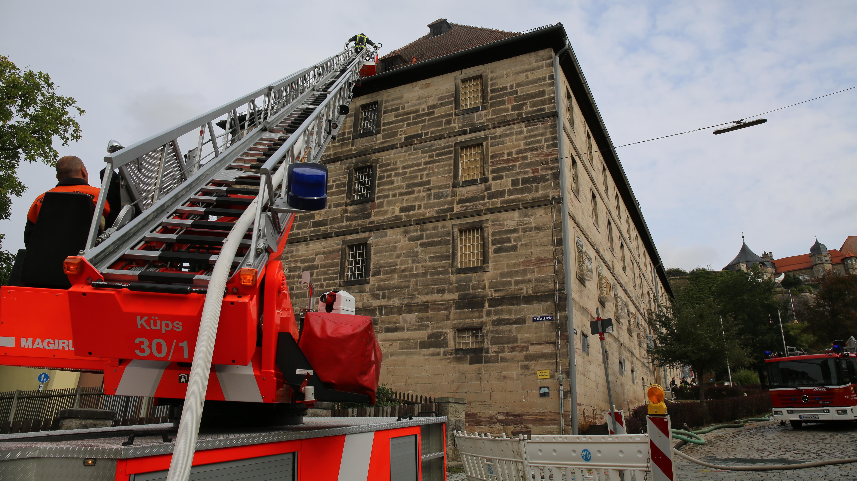 Feuerwehr beim Kronacher Gefängnis