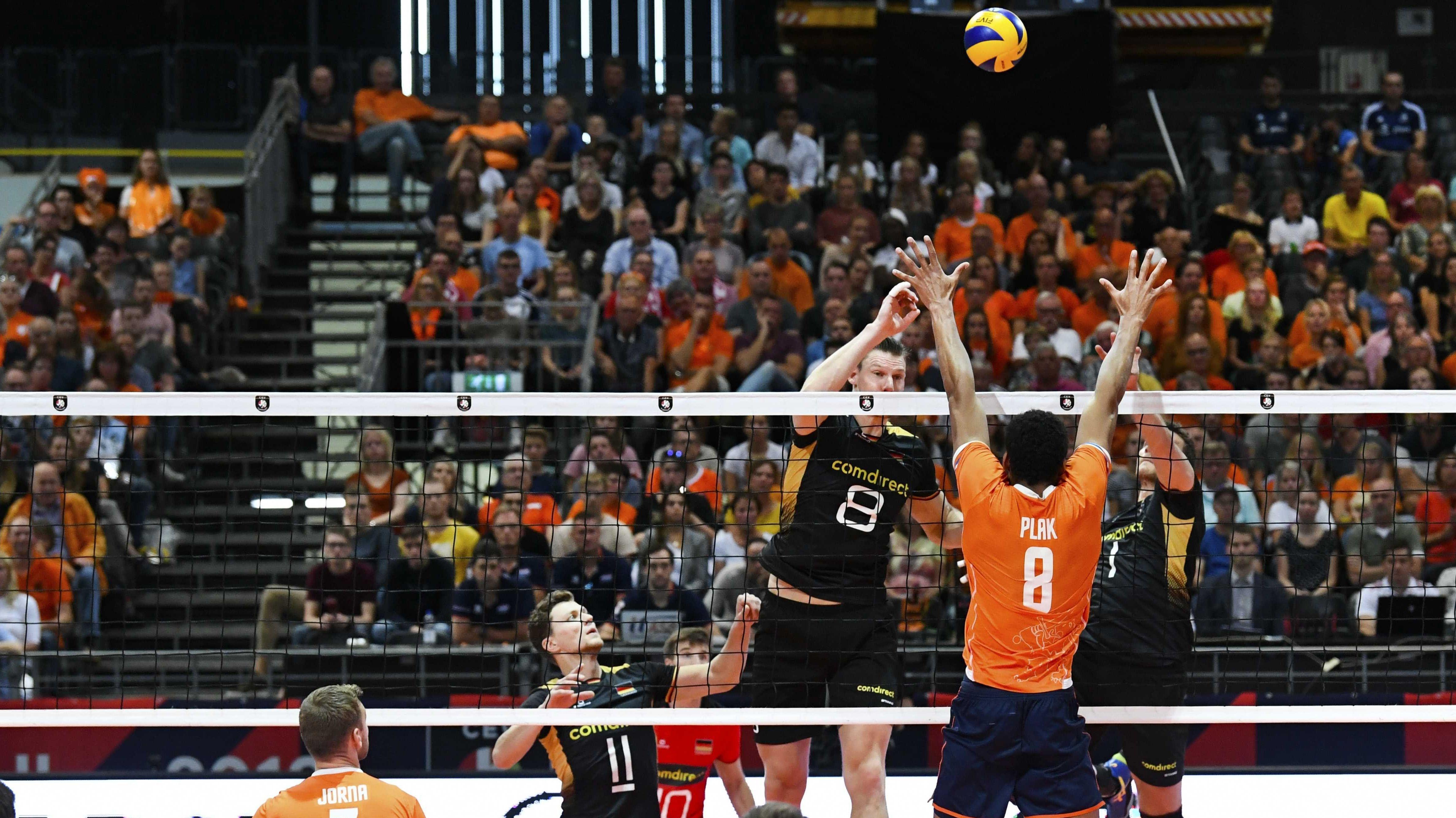 Spielszene aus dem Achtelfinale Deutschland gegen die Niederlande