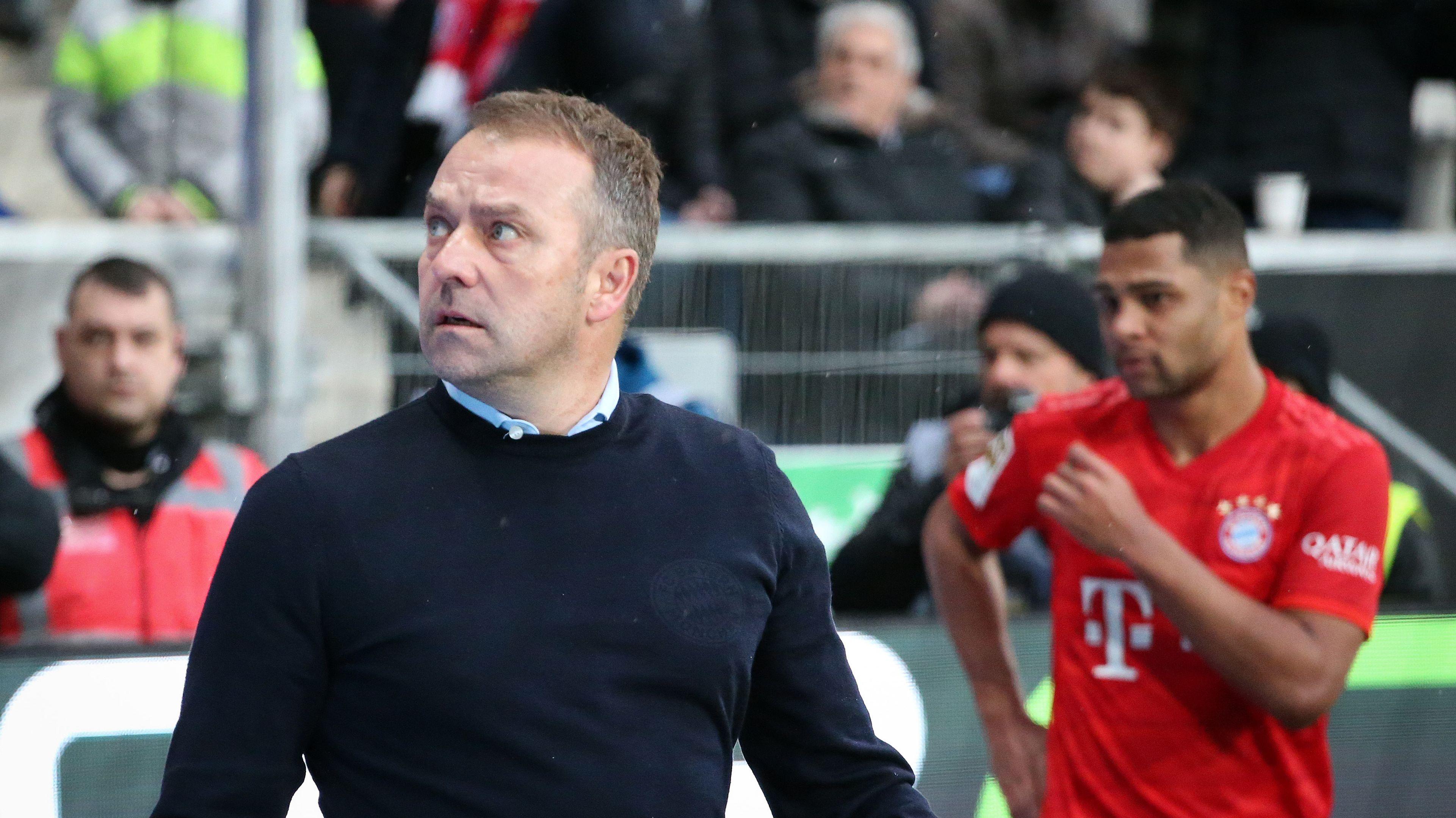Bayern-Trainer Hansi Flick in Hoffenheim.