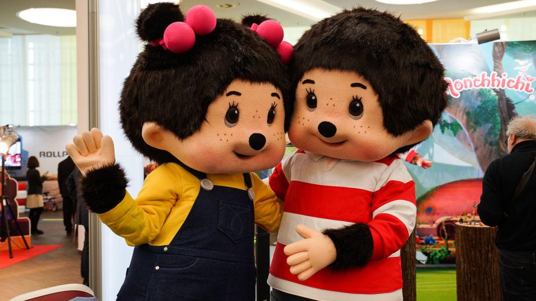 Wieder so wie vor Corona? Spielwarenmesse in Nürnberg 2018. Die chinesische Firma Silverlit hat auch Monchichis im Programm.