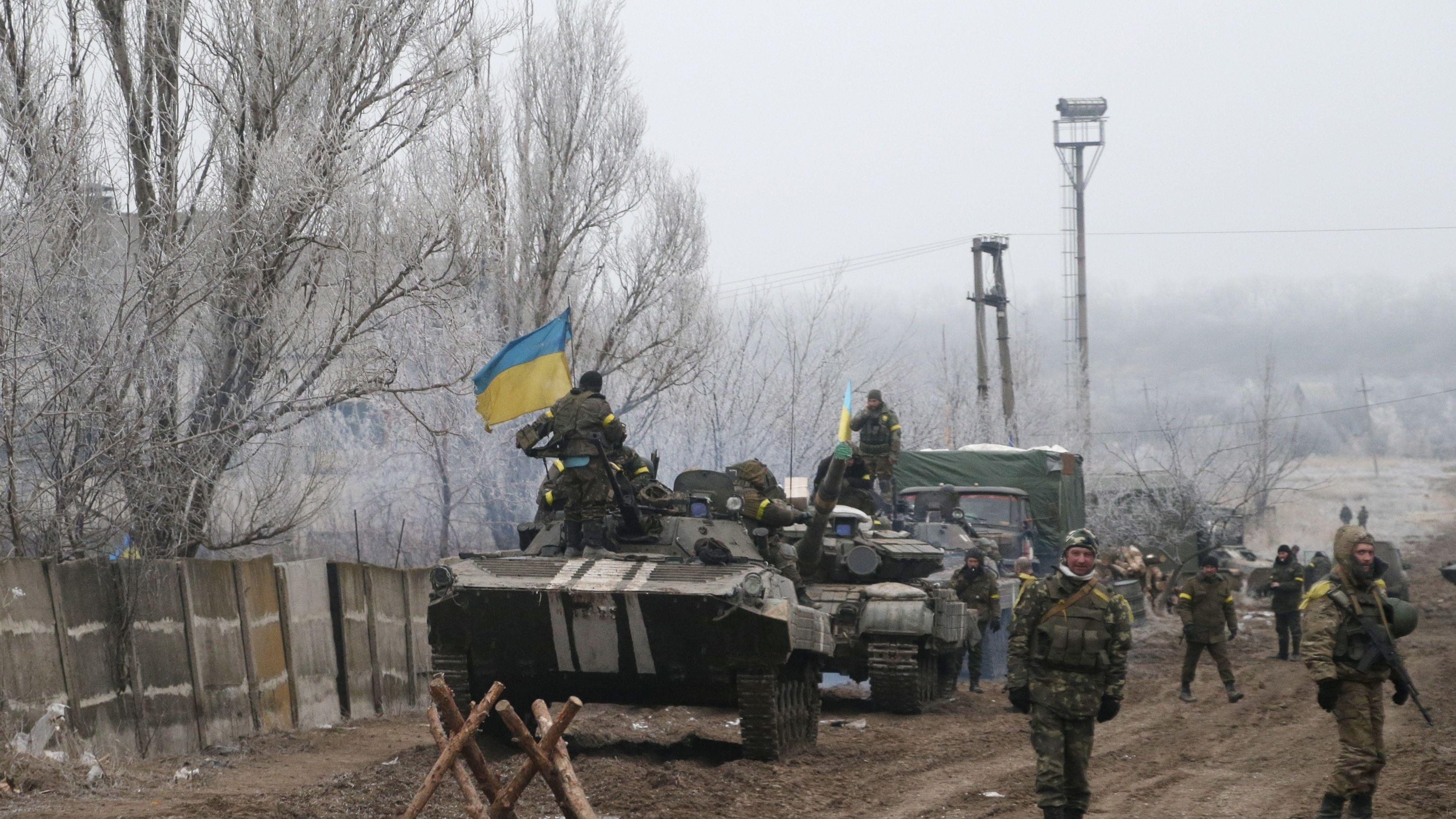Archivbild: Ukrainische Panzer im Donbass