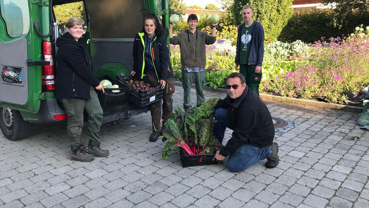 Das Team vom Botanischen Garten Augsburg unterstützt die Tafel