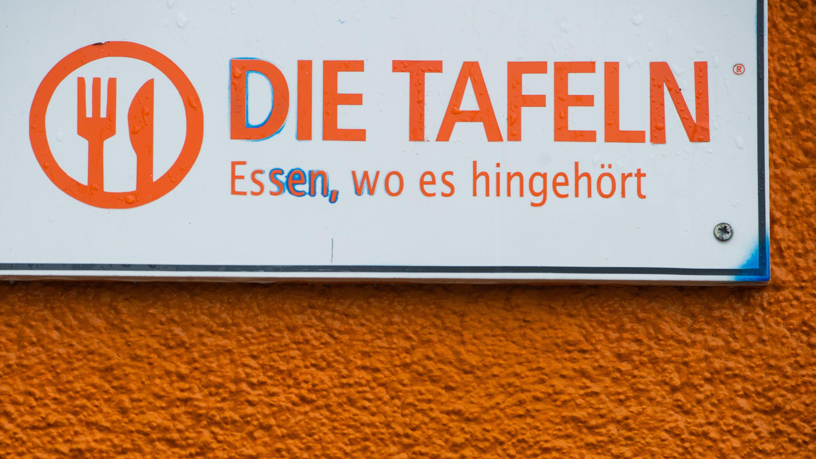 Schild: Die Tafeln (Symbolbild)